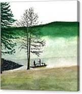 Fishing At Barkcamp Canvas Print