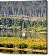 Fishing At George Town Lake Canvas Print
