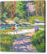 Fishing At Kennedy Meadows Canvas Print