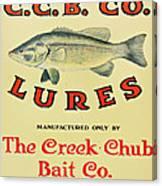 Fishing Bait Advertising Sign Canvas Print