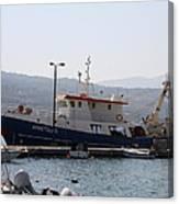 Fishing Boat Apostolos - Samos Canvas Print