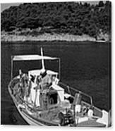 Fishing Boat In Asos Village Canvas Print
