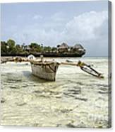 Fishing Boat In Zanzibar Canvas Print