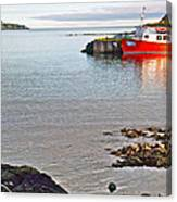 Fishing Boat Intwillingate Harbour-nl Canvas Print