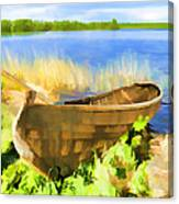 Fishing Boat Kizhi Island Canvas Print