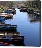 Fishing Boat Row Canvas Print