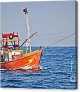Fishing Boat  Sri Lanka Canvas Print