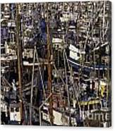 Fishing Boats At Fishermens Terminal Canvas Print