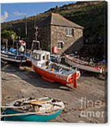 Fishing Boats At Mullion Cove Canvas Print