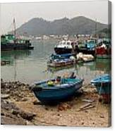 Fishing Boats - Hong Kong Canvas Print