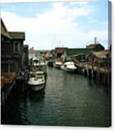 Fishing Boats In Fishtown Canvas Print