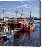 Fishing Boats In Killybegs Donegal Ireland Canvas Print