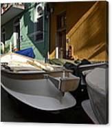 Fishing Boats In Manarola - Cinque Terre Canvas Print