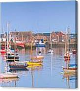 Fishing Boats In The Howth Marina Canvas Print