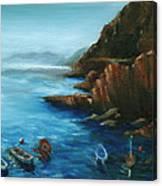 Fishing Boats Of Rio Maggiore Canvas Print