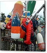 Fishing Buoys Canvas Print