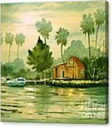 Fishing Cabin - Aucilla River Canvas Print