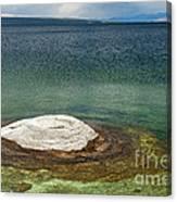 Fishing Cone In West Thumb Geyser Basin Canvas Print