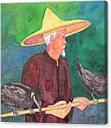 Fishing Cormorants Canvas Print