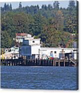 Fishing Docks On Puget Sound Canvas Print