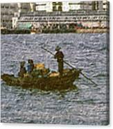 Fishing In Hong Kong Vintage  Canvas Print