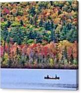 Fishing In The Fall Colors On Lake Chocorua Canvas Print