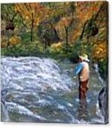 Fishing In The Fall Canvas Print