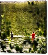 Fishing In The Pond Canvas Print