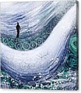Fishing In The Rain Canvas Print