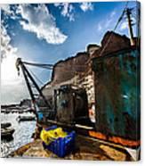 Fishing Machinery Canvas Print