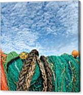 Fishing Nets And Alto-cumulus Clouds Canvas Print