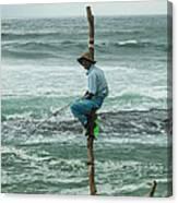Fishing On A Pole Canvas Print