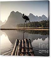 Fishing On Li River Canvas Print