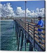 Fishing On Oceanside Pier Canvas Print