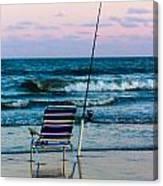 Fishing On The Beach Canvas Print