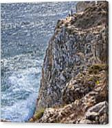 Fishing On The Cliffs Canvas Print