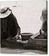 Fishing On Tonle Sap Canvas Print