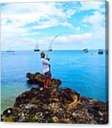 Fishing Paradise Canvas Print