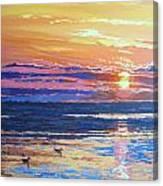 Fishing Paradise Sunset Canvas Print