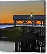 Fishing Pier At Dusk Canvas Print