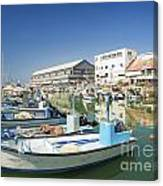 Fishing Port In Jaffa Tel Aviv Israel Canvas Print