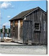 Fishing Shack On The Mystic River Canvas Print