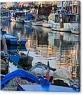 Fishing Ships In Grado Canvas Print