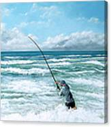Fishing The Gutters Canvas Print