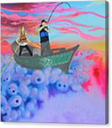 Fishing The Sky Canvas Print