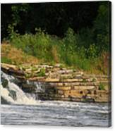 Fishing The Spillway Canvas Print