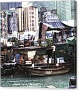 Fishing Village Digital Painting Canvas Print
