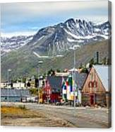 Fishing Village In Iceland Canvas Print