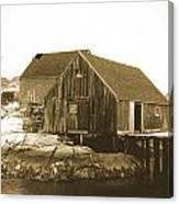Fishing Wharf At Peggy's Cove Canvas Print