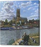 Fishing With Oscar - Doncaster Minster Canvas Print